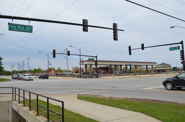 Improvements for the intersection at U.S. Route 52 and River Road in Shorewood include added through and turn lanes.