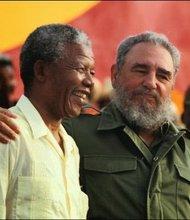 Nelsa Mandela and Fidel Castro