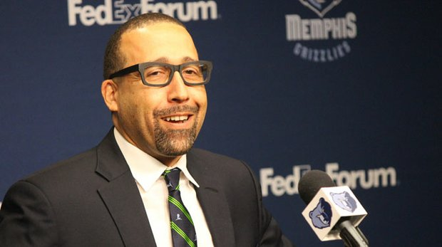 Memphis Grizzlies Head Coach David Fizdale (Photo by Lee Eric Smith)