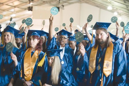 An estimated 2,148 students graduated— receiving 2,409 degrees and certificates— on Thursday, May 26, 2016 at the 54th Commencement of ...