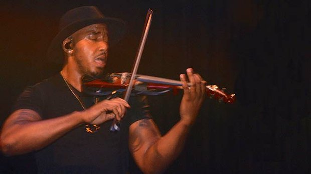 Two-time Emmy Award winning violinist Damien Escobar, the inaugural artist in the Memphis Live-Soulsville Foundation music and cultural exchange series, does his thing at the Orpheum Theater's Halloran Centre for Performing Arts and Education. 
