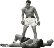 Muhammad Ali, then Cassius Clay, takes out Sonny Liston. (Image: muhammadali.com)