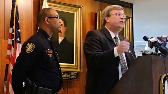 """(No) city can reduce homicides in five months,"" said Mayor Jim Strickland, referring to how long his administration has been ..."