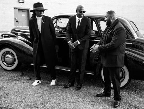 "Jay Z, Future & DJ Khaled link up to shoot the video for Khaled's ""I Got The Keys"" single in ..."