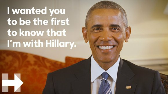 President Barack Obama formally endorsed Hillary Clinton's bid for the White House
