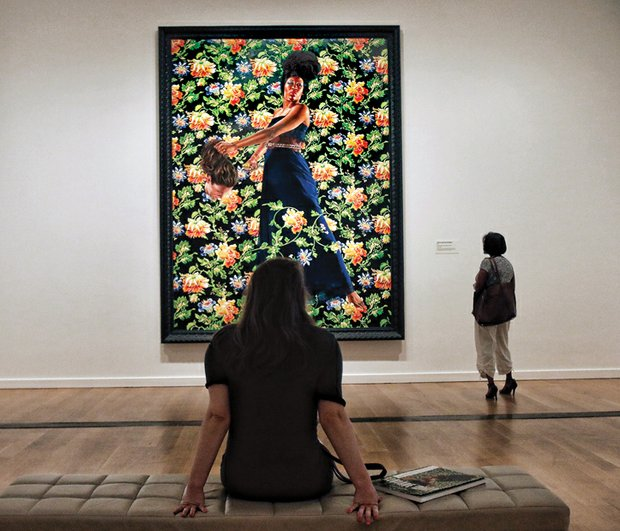 "Samantha Schwartzkopf takes in Kehinde Wiley's ""Judith and Holofernes."""