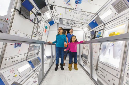 The new exhibit at OMSI takes guests on a trip through space.