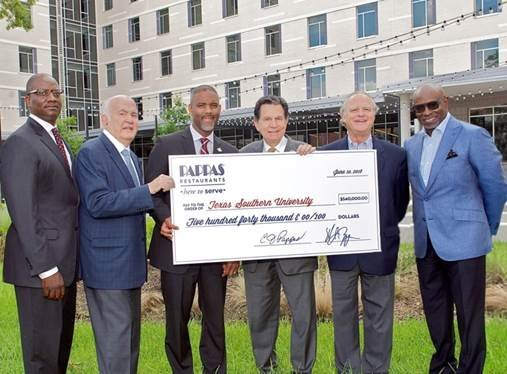 Pappas Restaurants announced that the company is donating $540,000 to Texas Southern University in support of its student housing initiative. ...