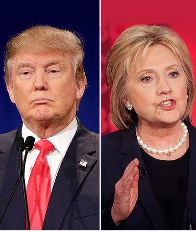Hillary Clinton said Tuesday that her rival Donald Trump could not be trusted with the U.S. economy and would bankrupt ...