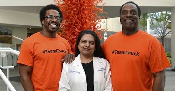 Chuck Dandridge, a Mansfield resident, became the first adult in the U.S. to receive a newly modified stem cell transplant ...