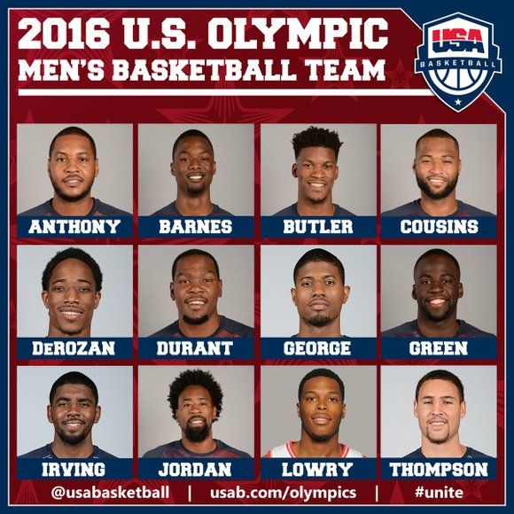 These are the 12 men who will represent the USA in Rio.