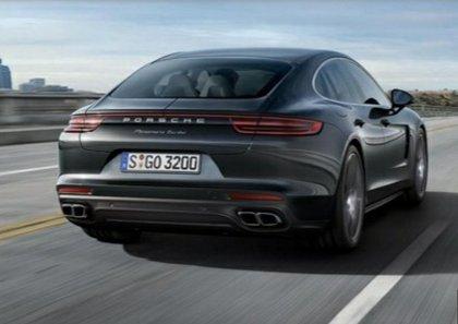Porsche Panamera hatchback back view