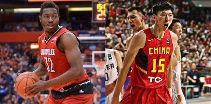 Houston Rockets  forward Chinanu Onuaku  and center Zhou Qi