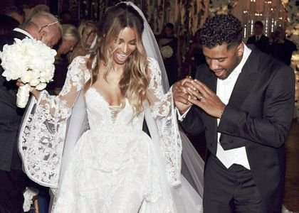 It's official. Pop singer Ciara, 30, and Seattle Seahawks quarterback Russell Wilson, 27, tied the knot in a romantic wedding ...