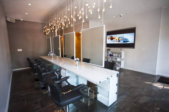 Opening day at The Club by Dominik Mager, an upscale hair salon conveniently located at 2276 Frederick Douglass Blvd. near ...