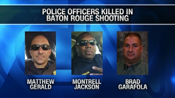 A Missouri man ambushed and killed three law officers and wounded three others in Baton Rouge on Sunday during a ...