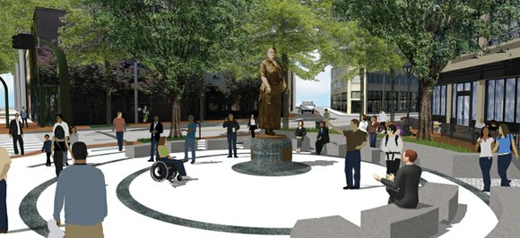 Coming soon: The statue and memorial plaza honoring Richmond great Maggie L. Walker at a gateway to the historical African-American ...