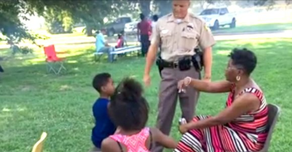 Wichita police hosted a free community cookout to open a dialogue amid racial tensions across the country.