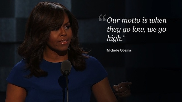 Michelle Obama: 'When they go low, we go high' | Houston ...
