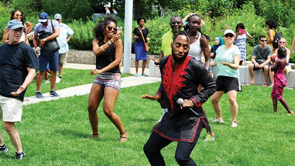 Hundreds of members of the African American community gathered on the Rose Kennedy Greenway to celebrate their heritage. The African ...