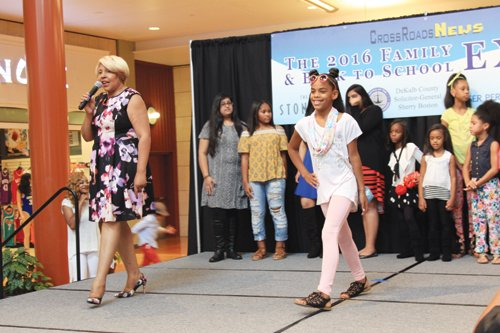 Jan Reynolds and her Icon models showcased back-to-school fashions from Baby Girl Couture at the Mall at Stonecrest and other designers.