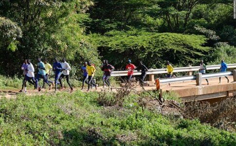 It's early morning in the Ngong Hills, on the edge of the Great Rift Valley, and a group of athletes ...