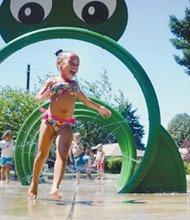 The splash pad at Peninsula Park in north Portland.