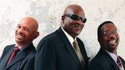 The Taj Mahal Trio, (from left) drummer Kester Smith, Taj Mahal, and bassist Bill Rich.