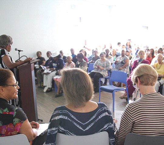 The people mentioned at a townhall on violence held July 30 at the Community Coalition, (CoCo) in South Los Angeles ...