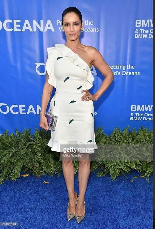 Chilean-born actress Leonor Varela appeared at the 9th annual Oceana SeaChange summer party wearing a design by Gauri & Nainika ...
