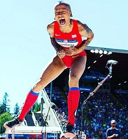 Inika McPherson will represent TEAM USA at the 2016 Olympics