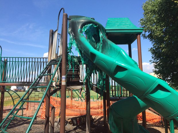 Five juveniles are being blamed for a fire that destroyed playground equipment at Walkers Grove Elementary School this week in Plainfield.