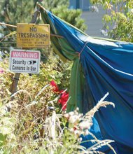 A camp along the Springwater Corridor suggests false security, though the Mayor's proposal of sanctioned encampments will make more secure outside shelters a reality.