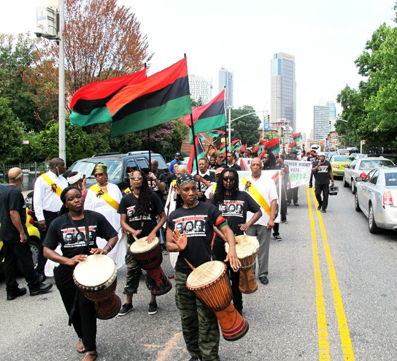 The spirit of the Hon. Marcus Mosiah Garvey Jr. illuminated the streets of Brooklyn Saturday afternoon, Aug. 6, 2016.
