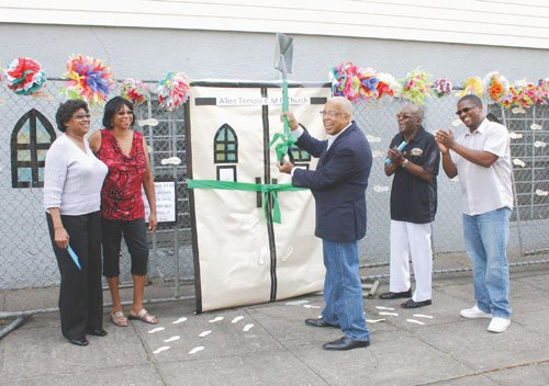 """""""We are very pleased by the support shown by our community, it's been a journey,"""" says Allen Temple leader Rev. ..."""