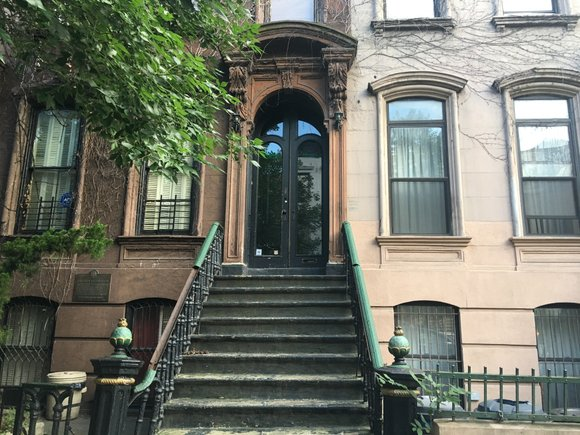 Ivy still grows on the front of Langston Hughes' home in Harlem. There aren't many houses like it left in ...