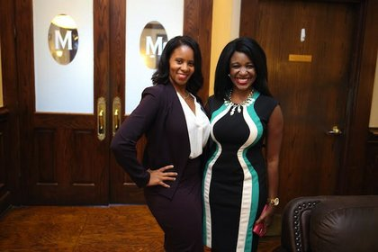 Jacquie Baly and OBO Director Carlecia Wright
