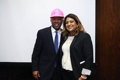 President Natalie Tobias and Mayor Turner