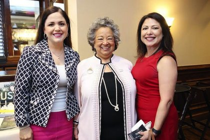 State Rep. Ana Hernandez, State Rep. Mary Ann Perez, Mayor Sylvester Turner, WCA President Natalie Tobias, Mayor of Galena Park Esmeralda Moya and Houston City councilman Robert Gallegos