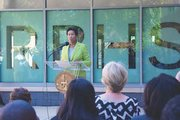 D.C. Mayor Muriel Bowser speaks at the grand opening of the Ron Brown College Preparatory High School in Northeast, the city's first all-male high school, on Aug. 22.