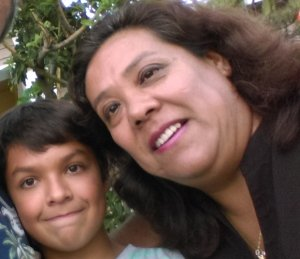 Guillermina Rice with her son Aero.