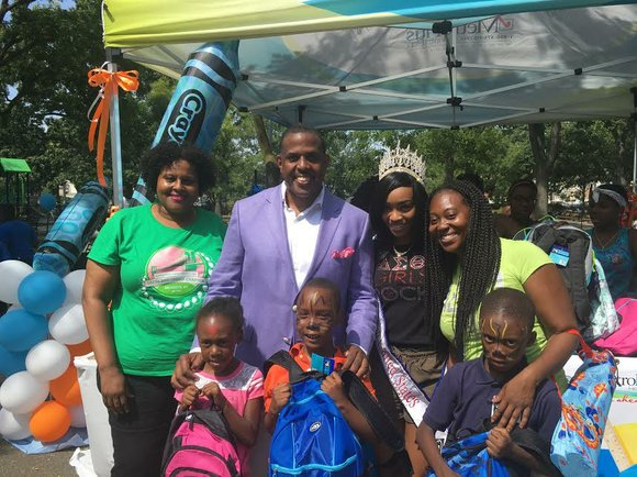 State Senator Kevin Parker hosted his ninth annual Harvest Fest Back-To-School Celebration at Paerdegat Park in Brooklyn