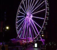 The Capital Wheel will be illuminated for the Stand Up to Cancer event on Sept. 9. (Courtesy photo)