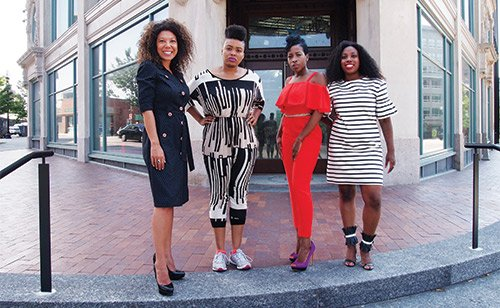 Malia Lazu of Epicenter Community Inc.; Rica Elysee of BeautyLynk; Diana Vertus of Exquisite Design Concepts; and Heather White of Trillfit.