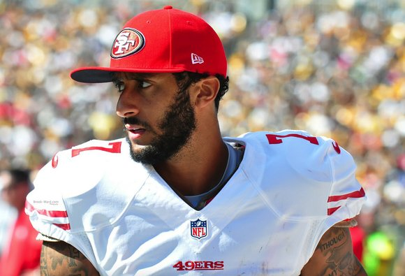 San Francisco 49ers quarterback Colin Kaepernick didn't hold back Tuesday when he was asked by CNN about the first presidential ...