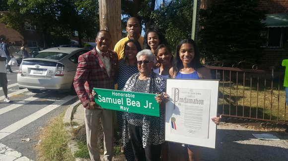 Friends, family members and elected officials gathered Wednesday at the corner of Ely Street and Strang Avenue in the Bronx, ...