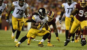Pittsburgh Steelers running back DeAngelo Williams ran for 143 yards and two touchdowns in the Steelers' 38-16 victory over the Washington Redskins at FedEx Field in Landover on Sept. 12. (Courtesy of the Steelers via Twitter)