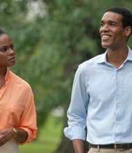 """Tika Sumpter (left) and Parker Sawyers star in """"Southside With You."""" (Miramax)"""
