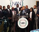 Rev. Al Sharpton and the family of Terence Crutcher