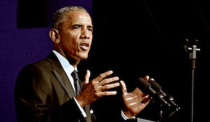 President Barack Obama delivers the keynote speech at the Phoenix Awards dinner during the Congressional Black Caucus Foundation's Annual Legislative Conference at the Walter E. Washington Convention Center in D.C. on Sept. 17.